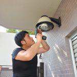名古屋市昭和区/ハイビジョン防犯カメラ設置工事